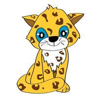 bebê jaguar vetor