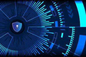 Vetor de fundo de segurança cibernética