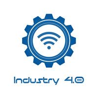 Indústria 4.0 na engrenagem Involute com Wireless. Conceito de produção de negócios e automação. Cyber Physical e controle de feedback. Futurista do tema da rede de inteligência mundial. Internet das Coisas.