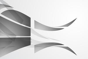 Vetor de fundo abstrato branco. Resumo cinzento. Fundo de design moderno para relatório e modelo de apresentação do projeto. Gráfico de ilustração vetorial. Forma de fogo e onda. publicidade de produtos presente