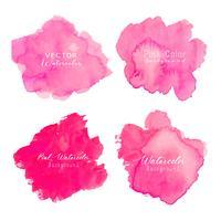 Fundo rosa aquarela abstrata. Elemento de aquarela para cartão. Ilustração vetorial vetor