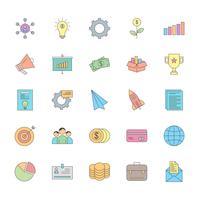 25 conjunto de ícones universais vetor