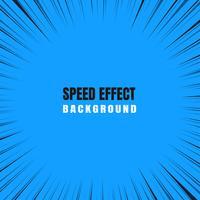 Efeito de zoom de movimento rápido Em um fundo azul em quadrinhos. vetor