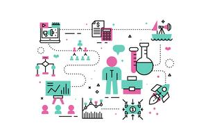 Ilustração de análise de negócios