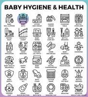 Higiene e saúde do bebê vetor