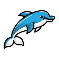 Ilustração dos desenhos animados de golfinho vetor