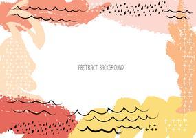 Cartões criativos artísticos com cursos da escova, fundo abstrato do curso da escova, ilustração do vetor. vetor