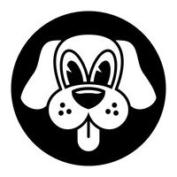 Cão bonito dos desenhos animados vetor