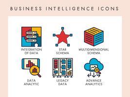 Ícones de inteligência de negócios