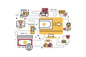 Ilustração de pagamento on-line