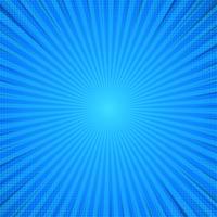 Fundo cômico abstrato azul da luz solar dos desenhos animados.