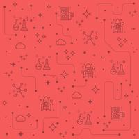 Fundo de ícones de linha de ciência vetor