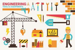 Ilustração do conceito de engenharia vetor