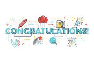 Palavra de parabéns pelo conceito de celebração