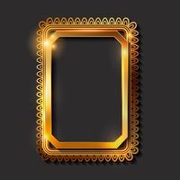 Molduras douradas vintage decorativas e fronteiras vetor