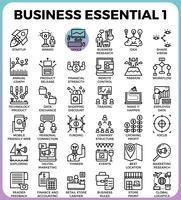 Ícones essenciais de negócios vetor