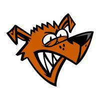 Ilustração em vetor desenho animado cachorro bravo