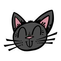 Gato preto de Halloween vetor