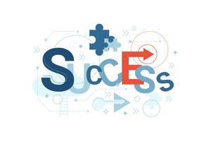 Tipografia de palavra de sucesso vetor