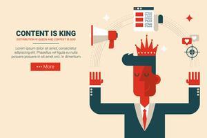 O conteúdo é rei conceito vetor