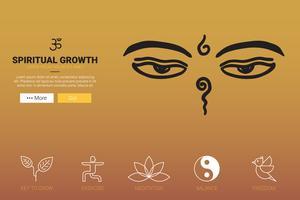Conceito de crescimento espiritual vetor