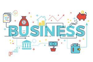 Letras de palavra de negócios vetor