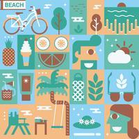 Conceito de praia vetor
