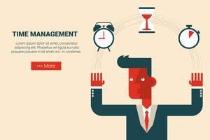 Conceito de gerenciamento de tempo vetor