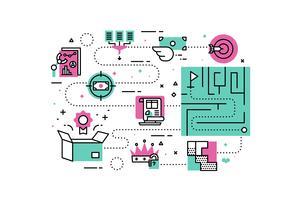 Ilustrações de soluções de negócios