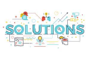 Ilustração de letras de palavra de soluções