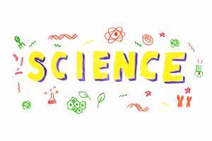 Ilustração de palavra de ciência