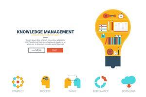 Modelo de site de gerenciamento de conhecimento vetor