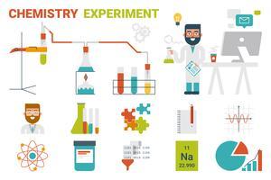 Conceito de experimento de química vetor