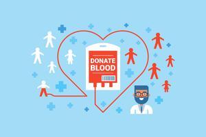 Conceito de doação de sangue vetor