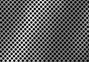 Fundo de prata abstrato do metal feito da textura do teste padrão do hexágono.