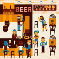 Cerveja Restaurante vetor