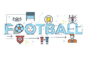 Letras de palavra de futebol vetor