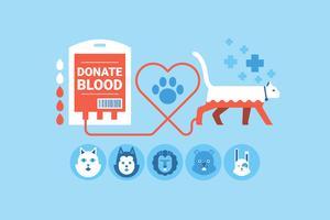 Doação de Sangue Animal vetor
