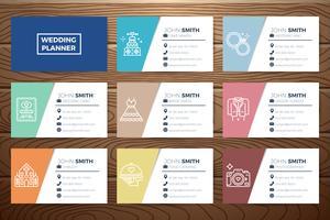 Cartão do planejador do casamento vetor