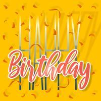 Cartão bonito do feliz aniversario vetor