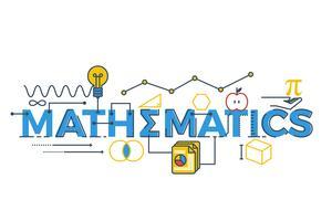 Matemática, palavra, ilustração vetor