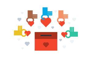 Doação para o conceito de caridade vetor