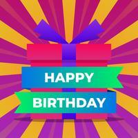 Feliz aniversario Design de cartões vetor
