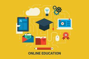 Educação online vetor