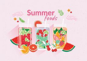 Alimentos de verão vetor