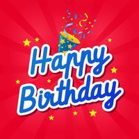 Feliz aniversário saudações carro vetor