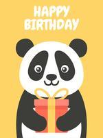 Feliz aniversario Panda vetor