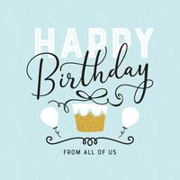Feliz aniversário tipografia vector cartão