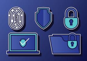 Conjunto de Segurança Cibernética vetor