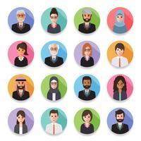 Empresários e avatares de mulheres de negócios. vetor